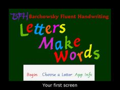 bfh fluent handwriting manual free download