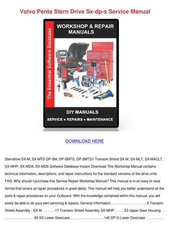 volvo penta sterndrive manual free download