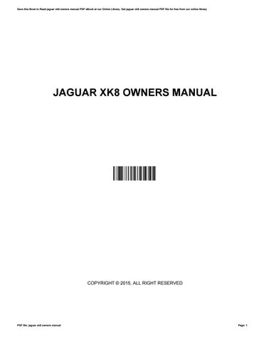 jaguar xk8 owners manual download