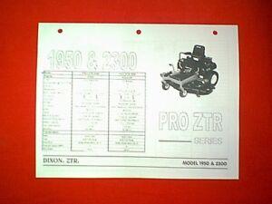 manual for a dixon mower model ztr 4516