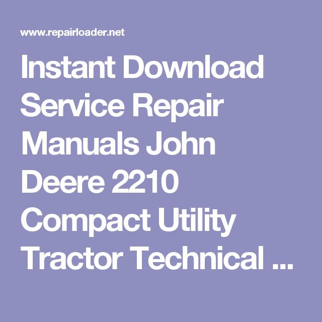 john deere 2210 manual download