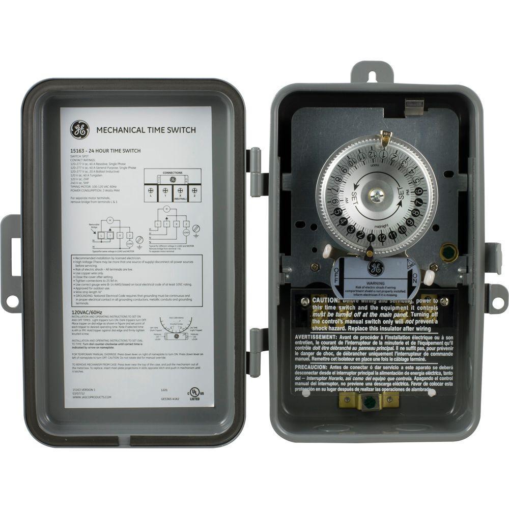 ge heavy duty timer model 15075 manual