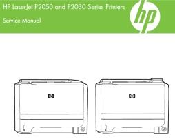 hp laserjet p2055 mfp service manual