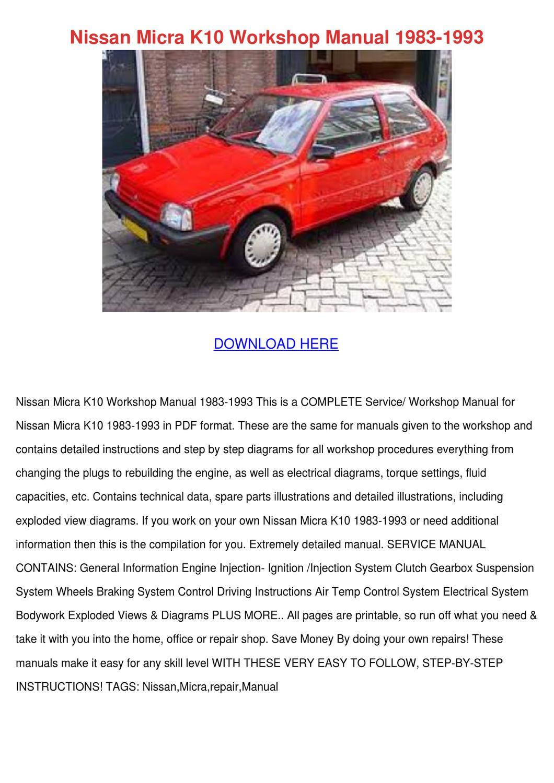 nissan micra k10 manual download