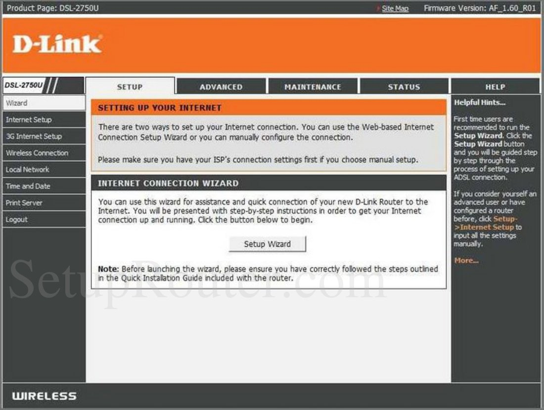 d link model dsl 2750b user manual
