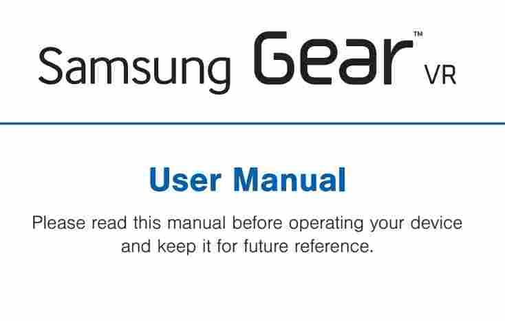 samsung gear vr instruction manual