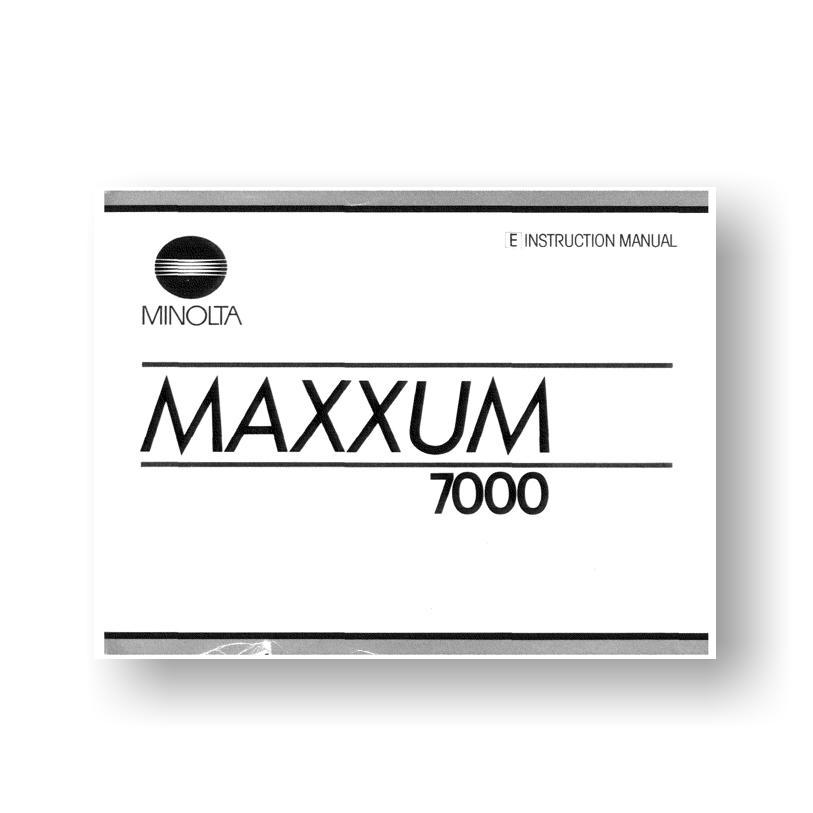 minolta maxxum 3xi manual pdf