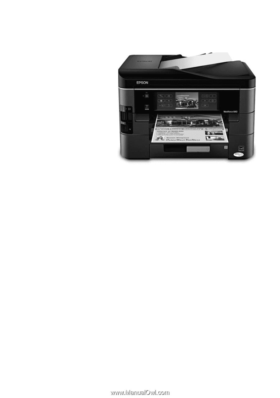 epson workforce 840 manual pdf