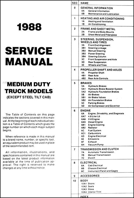 gmc medium duty c model repair manual