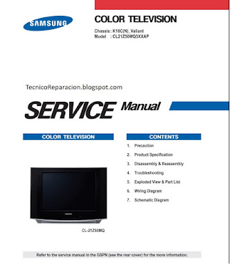 manual de servicio tv samsung