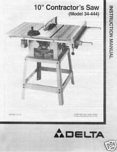 instruction manual delta model ts200ls