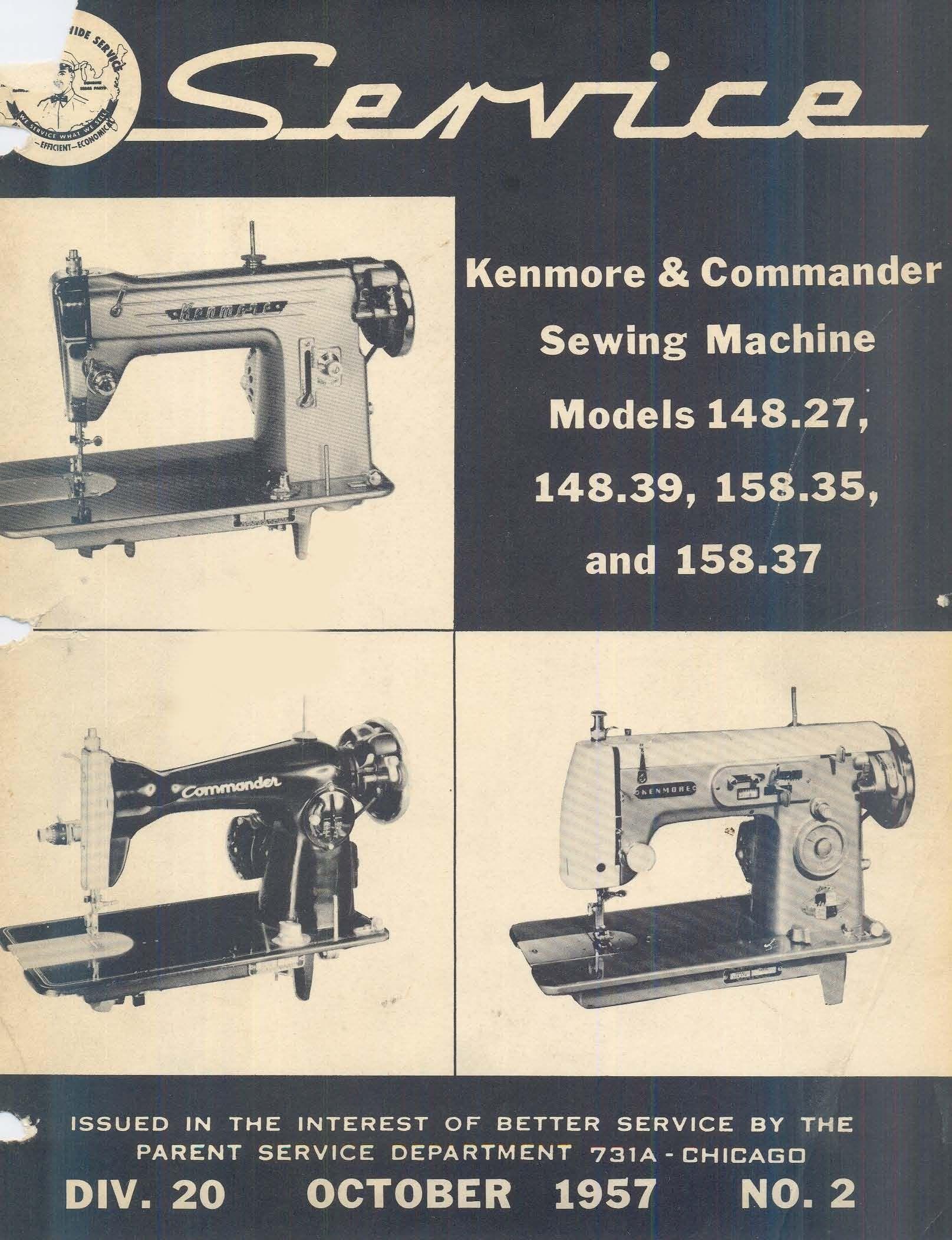 kenmore model 1357 sewing machine service manual