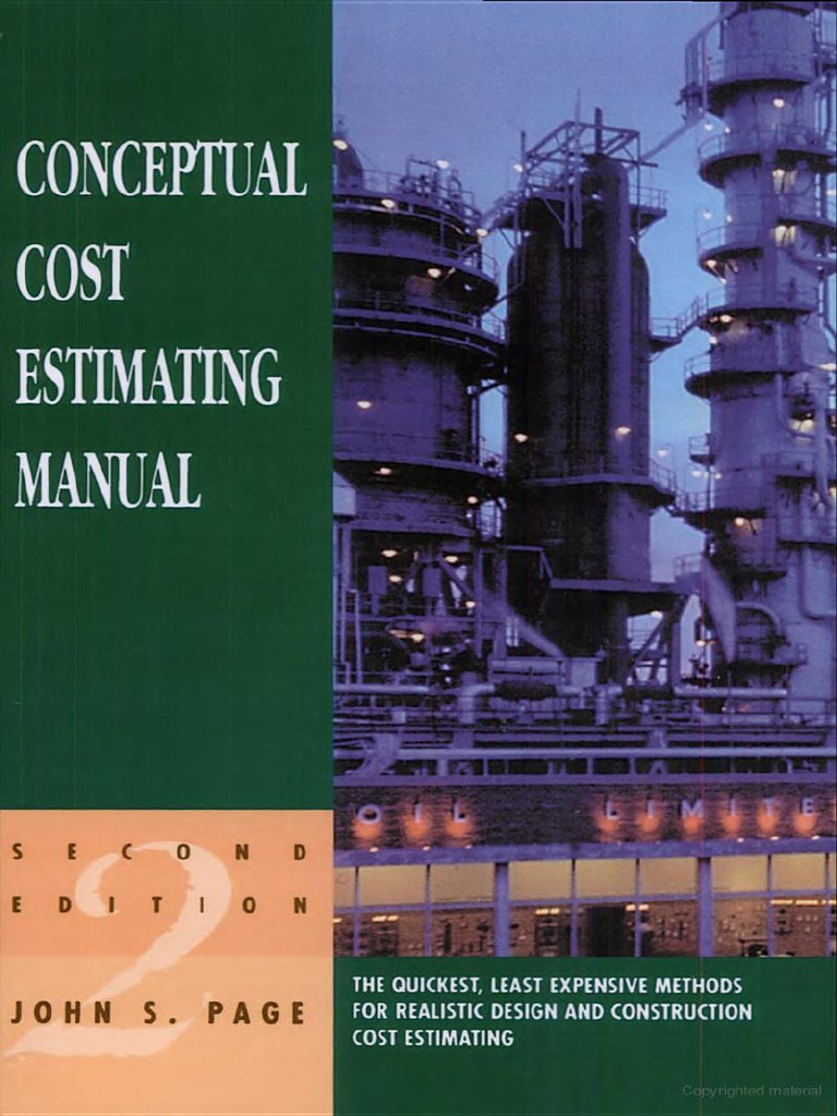 conceptual cost estimating manual john s page pdf