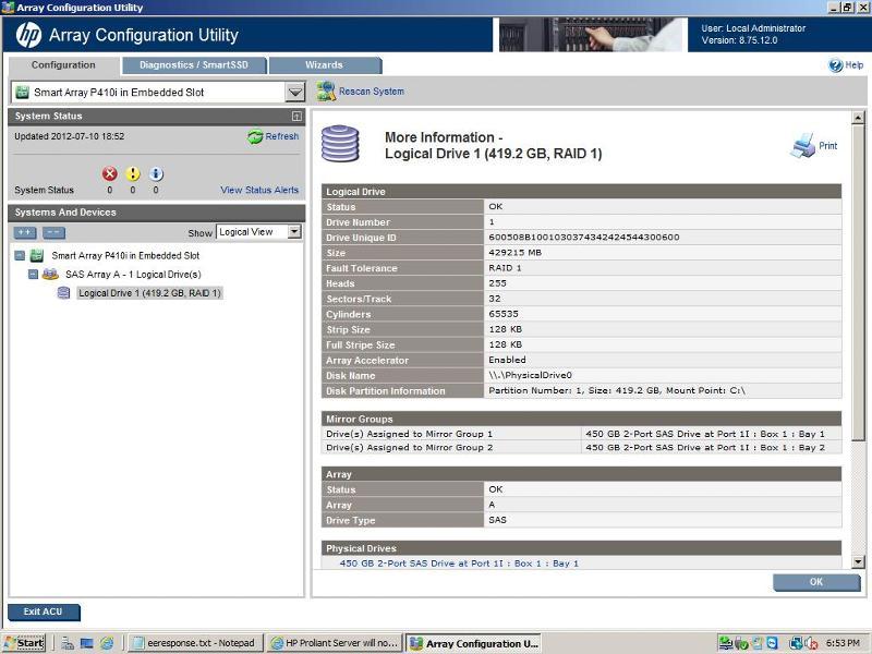 hp smart array p410 manual