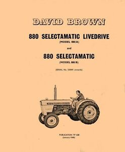david brown 880 selectamatic workshop manual pdf