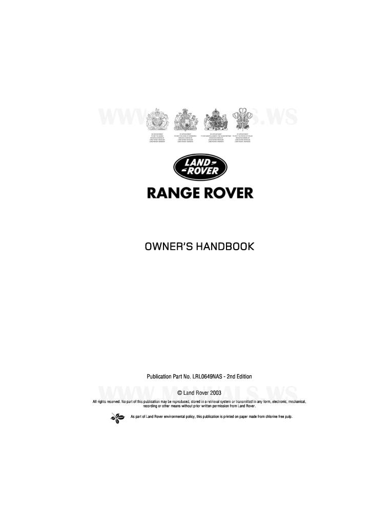 download free pdf 2003 range rover owners manuall