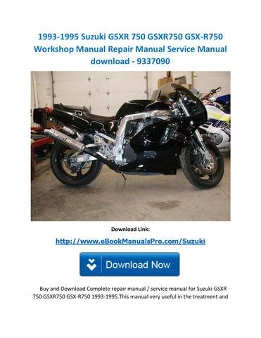 download 03 gsxr 750 manual