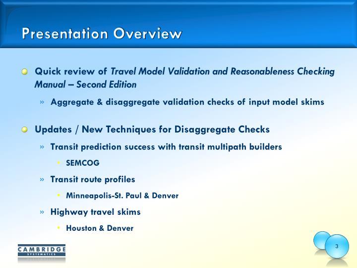 model validation and reasonableness checking manual