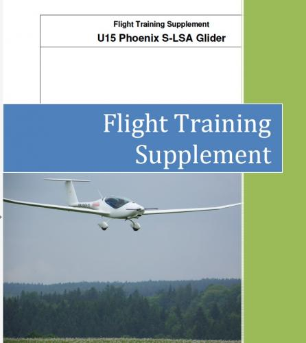 glider flight training manual pdf download