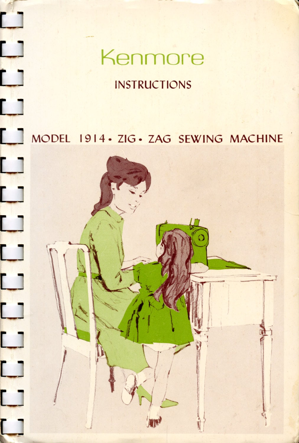 instruction manual for sears kenmore sewing machine model 158.10400