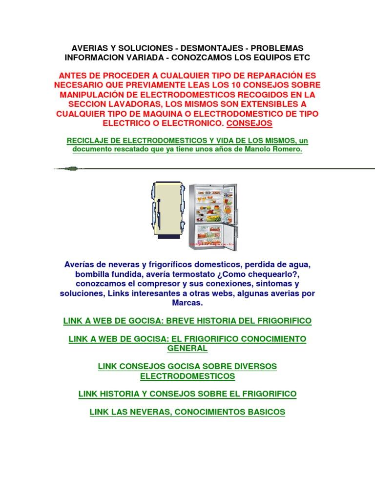 manual de reparacion de refrigeradores pdf gratis