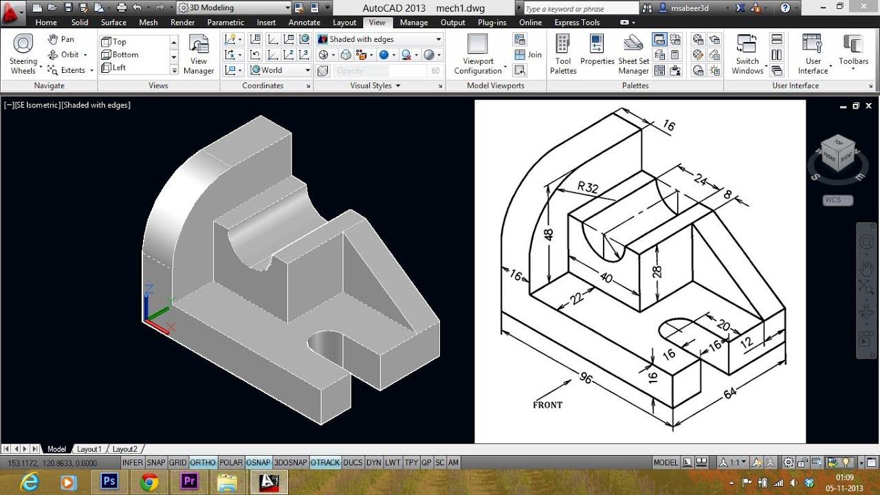 manual drafting and model making