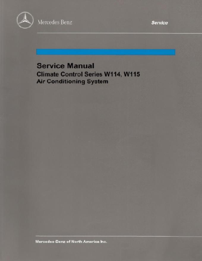 mercedes benz model 114 115 service manual library