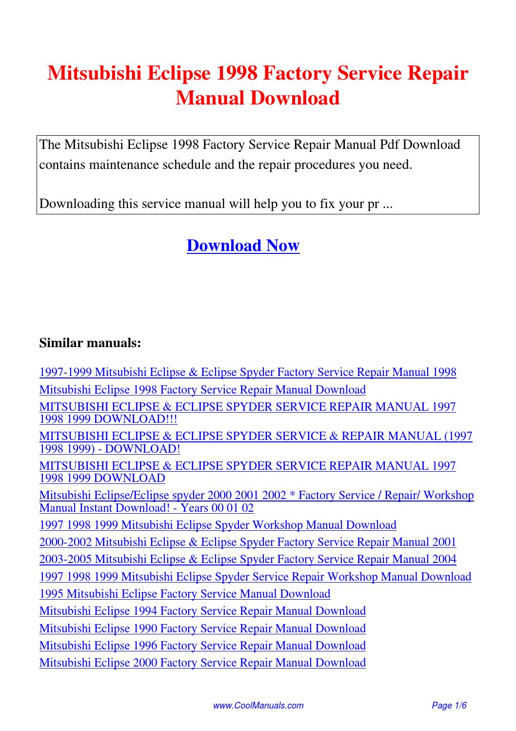 mitsubishi l300 repair manual pdf